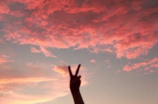 Pink Sky Peace sharon